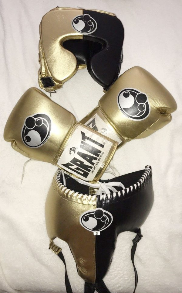 Details about GRANT BOXING GLOVES COMPLETE SET PURE COWHIDE LEATHER